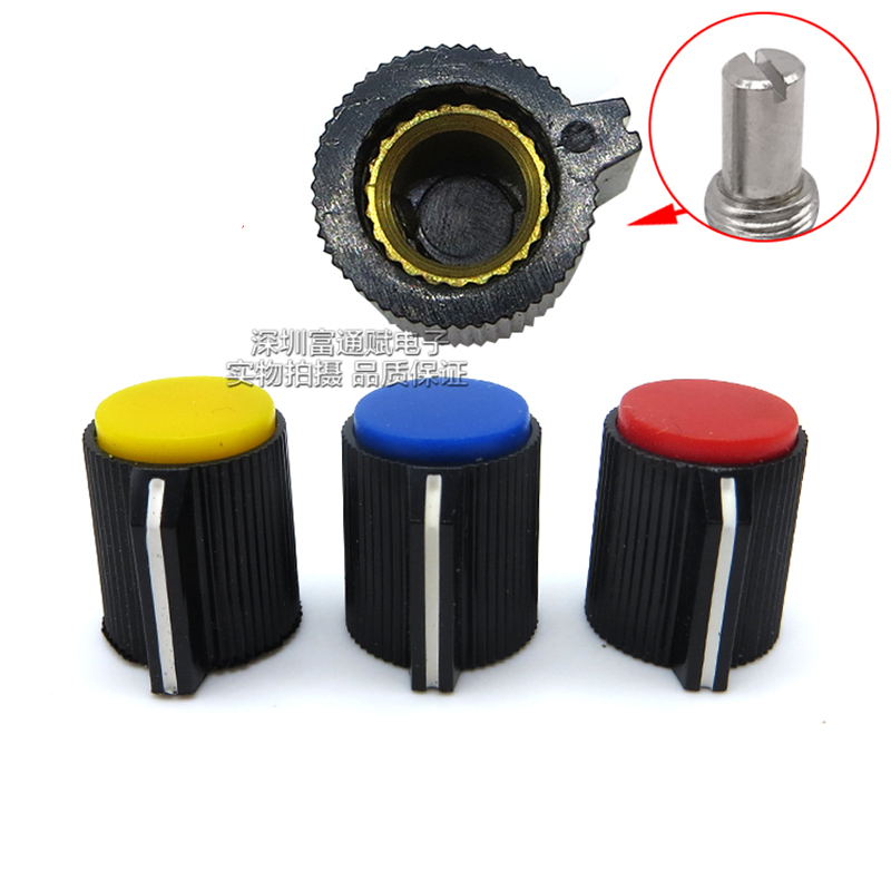 6.4mm Shaft Hole Potentiometer Control Rotary Knobs Effect Pedal Knobs Black