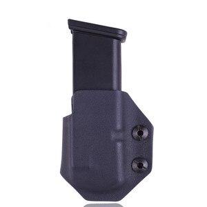 Image 3 - Innen Die Bund IWB Kydex Magazin Träger Mag Holster Benutzerdefinierte Für Glock 19 23 26 27 32 Verdeckte Trage 9mm Gun Pistole Pouch