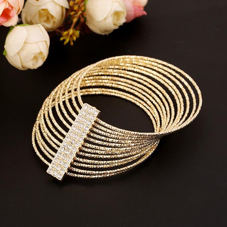 rhinestone bracelets for women bangles pulseiras carter gold silver plated bangles bracelet manchette femme