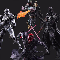 Star Wars Darth Vader / Boba Fett / Darth Maul / Stormtrooper Action Figures Play Arts Kai BJD Toys 26cm