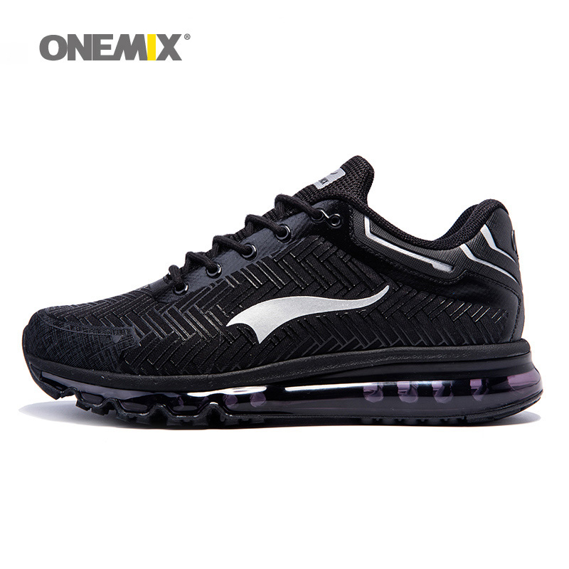ONEMIX Man Running Shoes For Men Nice Cushion Shox Athletic Trainers Sports Shoe Max Black Breathable