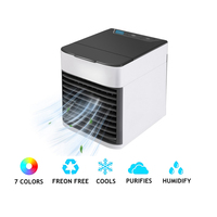 Mini Portable Air Conditioner Arctic Air Cooler Humidifier Purifier USB LED Light Personal Space Fan Air Cooling Fan