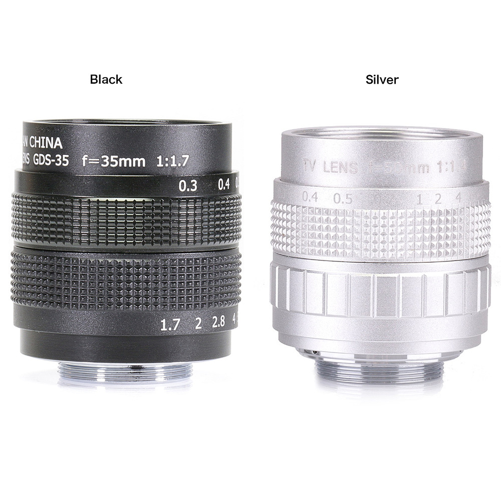 FUJIAN 35mm f1.7 C mount camera CCTV Lens for M4/3 / MFT Mount Camera free shipping