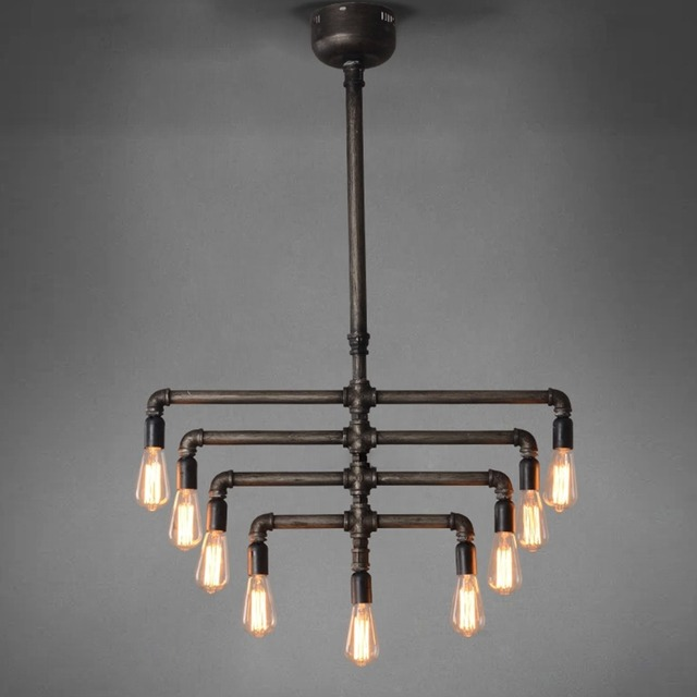 industrial lighting chandelier. Fine Industrial Brief American Country Loft Lighting Chandelier Industrial Vintage Pendant  Lamp Edison Light For Warehouse Cafe D
