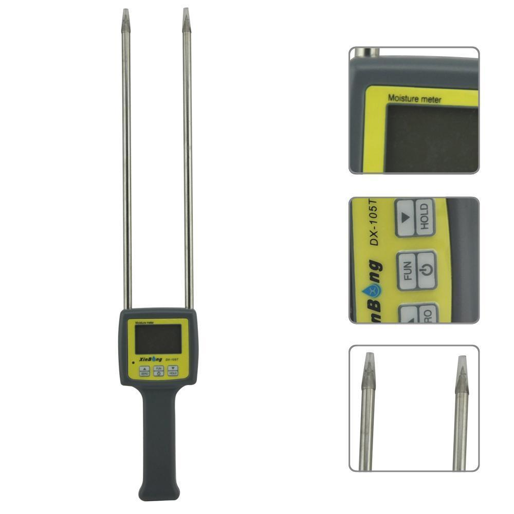 Hygrometers DX-105T 4 digital profissional tabaco medidor de umidade umidade tester 8%-40% de umidade