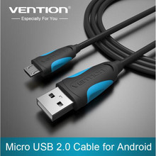 Vention Micro USB Cable 1m 1.5m 2m 3m black Fast Charging line for Android Mobile Phone Data Sync Charger Cable For Samsung HTC