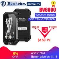 Blackview BV6000 смартфон IP68 Водонепроницаемый mtk6755 восемь ядер 3G RAM 32G ROM 13.0MP мобильный телефон 4,7 дюймов Экран мобильный телефон 4G
