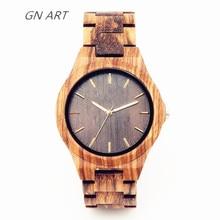 2018 Reloj de madera hecho a medida hecho a mano para hombres Relojes especiales All wood table relogio masculino