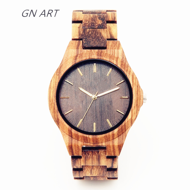 bamboo watch men fashion copper wooden craft wrist wood handmade simple product iron watches women products image full
