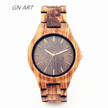 2018 Custom -made wooden watch handmade for men special Watches All wood table relogio masculino