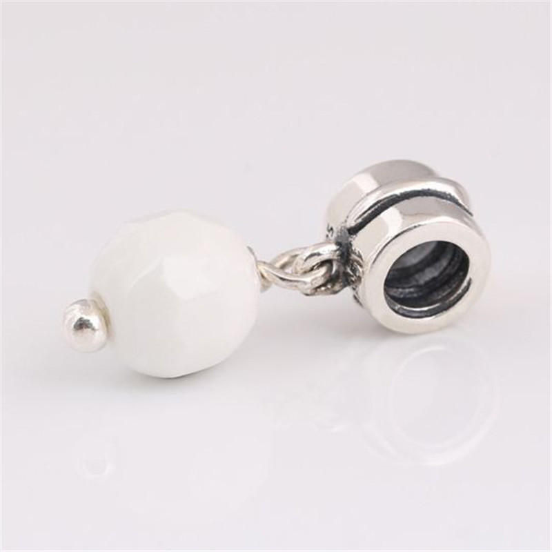 2019 Summer New 925 Sterling Silver Pendant White Pearl Hanging Charm Fit Original Pandora Bracelet Necklace Women DIY Jewelry in Charms from Jewelry Accessories