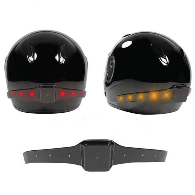 ФОТО Wireless Motorcycle Motorbike Helmet LED Safety Light Brake Lights Turn Signal Indicators