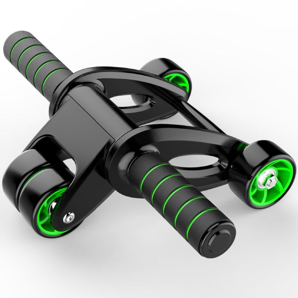 Fitness equipment 4 wheels innovative ergonomic abdominal roller