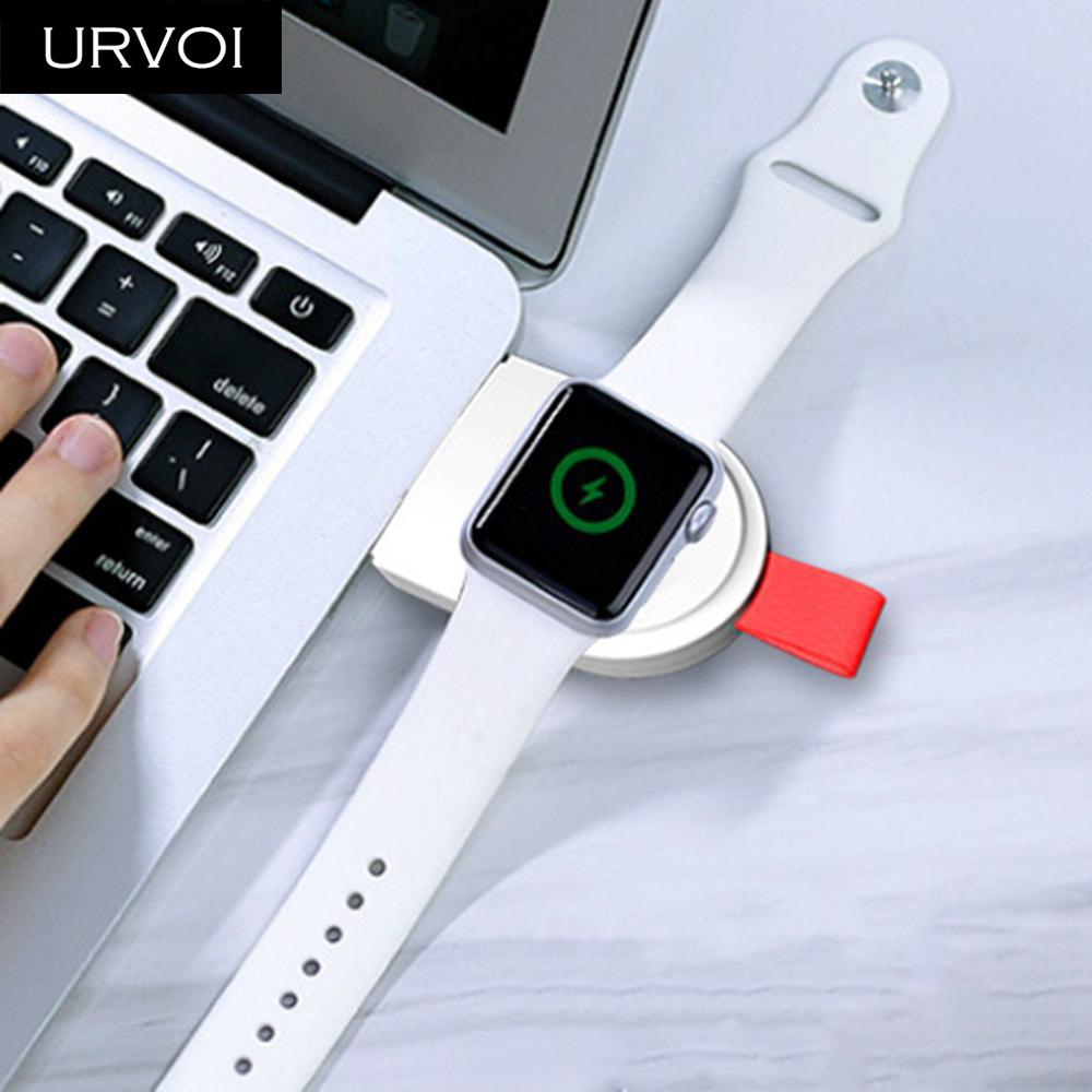 URVOI Charger for Apple Watch series 4 3 2 1 Portable Wireless holder charging handy Magnetic stand 2w input USB plug | Watch Batteries