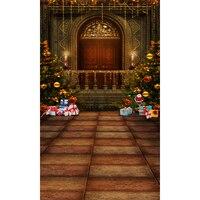 Dostosuj fotografia backdrops photo studio tło Boże Narodzenie drzewa Bez Szwu winylu cyfrowy tkanina dla dzieci zdjęcia L-821