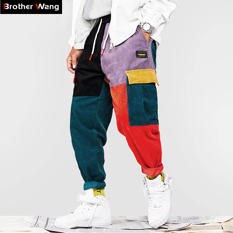 Cotton Trousers Pant Hip-Hop-Pants Corduroy Loose Jogging Men's Fashion Brand New Harajuku