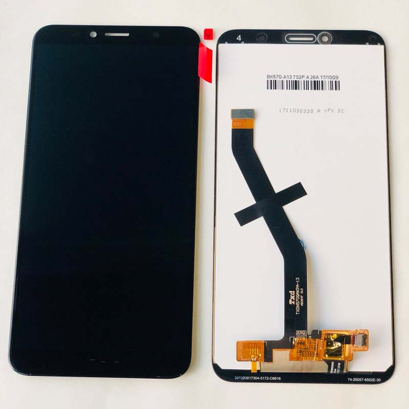 Image 2 - Original 5.7 inch for Huawei Honor 7C aum L41 Aum L41 LCD Display Touch Screen Digitizer Assembly For Huawei ATU LX1 / L21+FrameMobile Phone LCD Screens   -