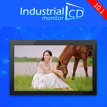 M101-EF01R/ 10.1 inch metal case 1024*600 Embedd frame industrial touch screen LCD monitors with VGA HDMI input