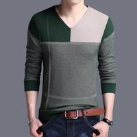 2018 New Autumn Fashion Brand Clothes Men Slim Fit Sweater Top Quality Cashmere Casual Patchwork Sweaters Mens Pullovers For Men