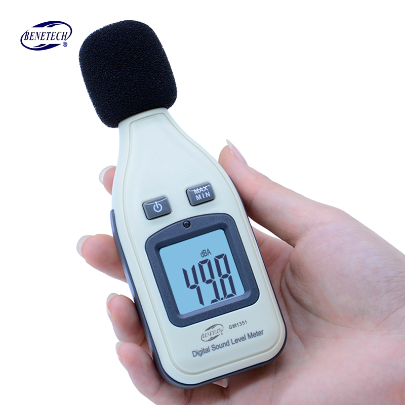 BENETECH GM1351 Digital Sound Level Meter Decibel Logger Tester 30-130dB Noise in Decibels LCD Analyzer Tester