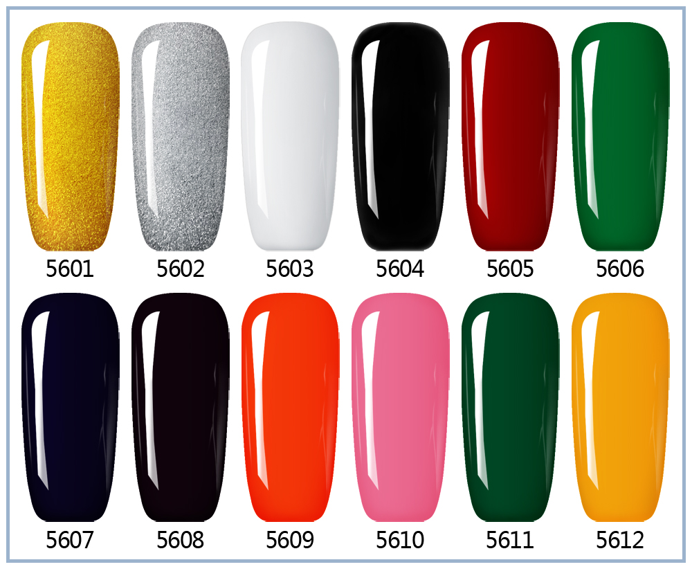 Lvmay Gel Lacquer Pure Colors UV Gel Manicure DIY Nail Art Tips Gel ...