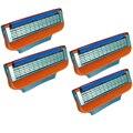 4 unids/lote Alta Calidad 5-blade Razor Blades, Lo Mejor para Los Hombres de Afeitar Cuidado de La Cara