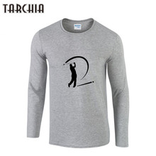 TARCHIA Men's Clothing Tops &Tees T-Shirts Free Shipping Spring New Fashion Brand Men Printed Long Sleeve Slim Fit T Shirts