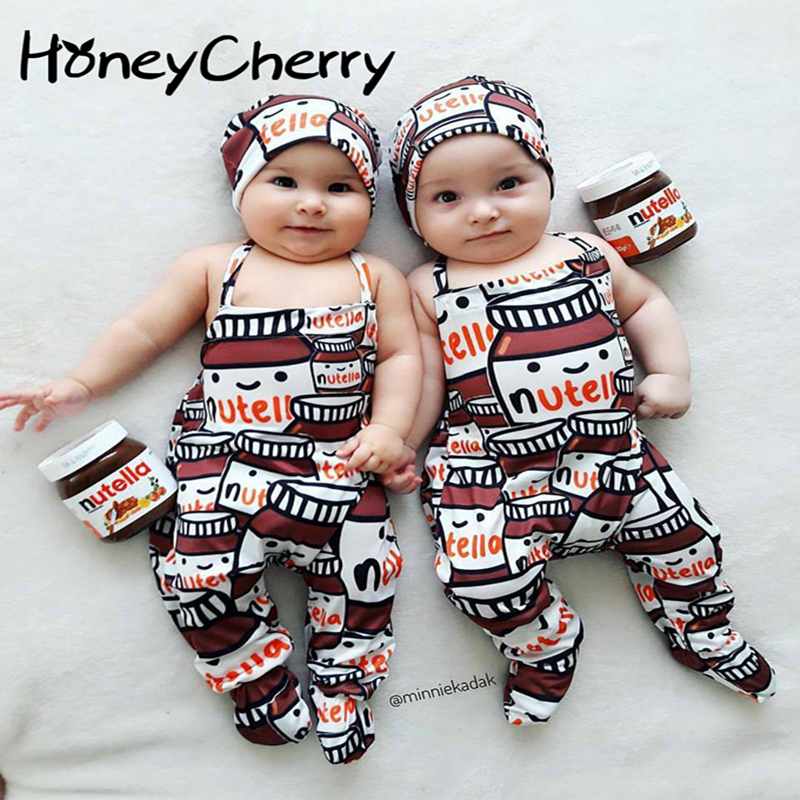 2017 Little Baby Bottle Printed Conjoined Garment Baby Girl Rompers Newborn Baby Clothes Baby Boy