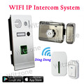 Dual Way Communication Wireless Video Doorphone Door Access Control System Fingerprint Doorbell+Mute Electronic Lock+Door Chime