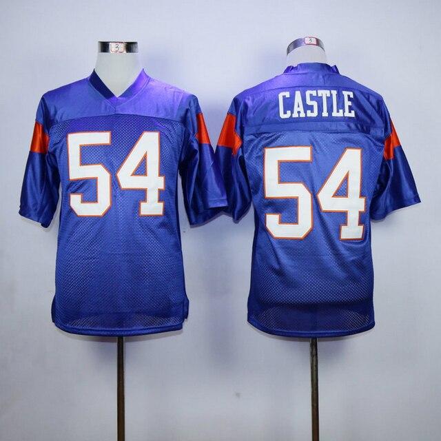 f0cabca2b3 Blue Mountain State 54 Thad Castle 7 Alex Moran Filme Homens futebol Jersey  Tudo Costurado Futebol