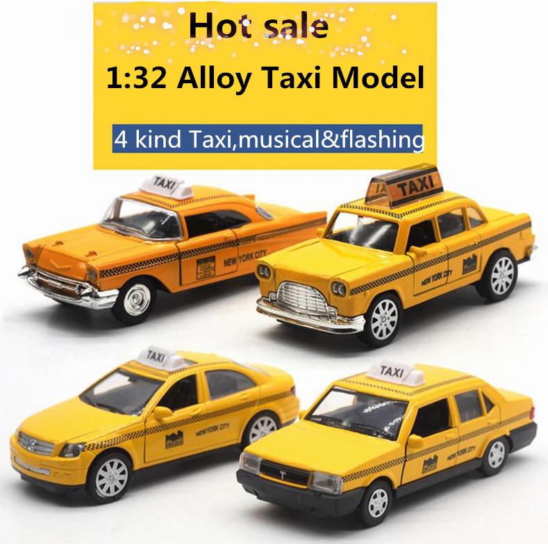 Big Sale!1:32 Alloy Pull Back Taxi Model,High Simulation Ford,Lada Model,musical&flashing,diecast Metal Toy Model,free Shipping