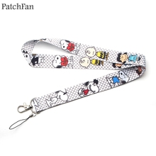 Patchfan cute cartoon dog Multi-function Mobile Phone Straps Tags Neck for keys ID Lanyard Badge Strap webbing A1877
