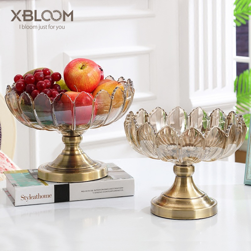 3D glass fruit bowl living room decoration wall painting decorative glass fruit bowl kitchen room fruit plate wedding decoration