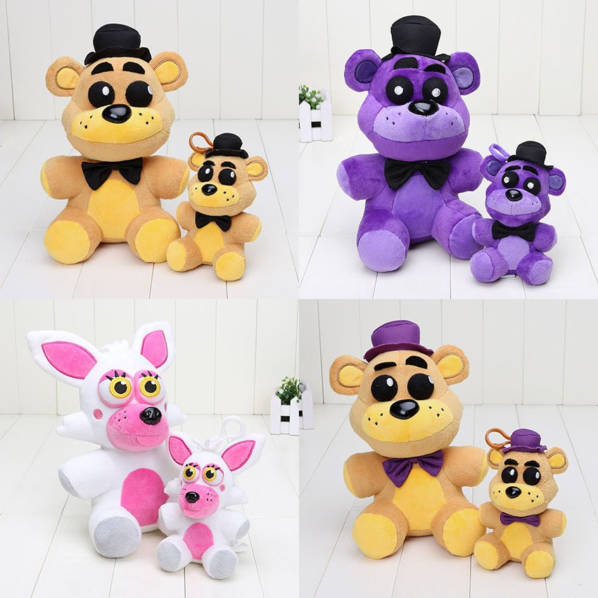 25cm / 14cm Five Nights At Freddy Plush toys FNAF Golden Fazbear Nightmare Fredbear Mangle Plush Pendant Toy