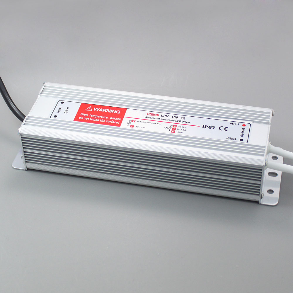 LPV-100 100W IP67 waterproof Power driver supply 12V 24V meanwell 12v 100w ul certificated clg series ip67 waterproof power supply 90 295vac to 12v dc