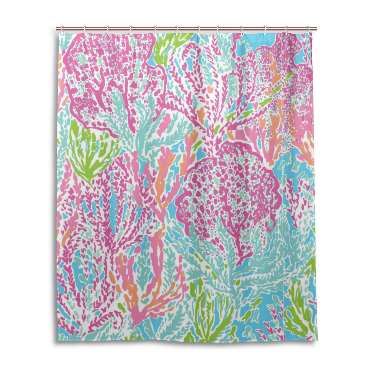 60x72 Inch (152x182cm) Stall Shower Curtain Waterproof With Hooks Mildew