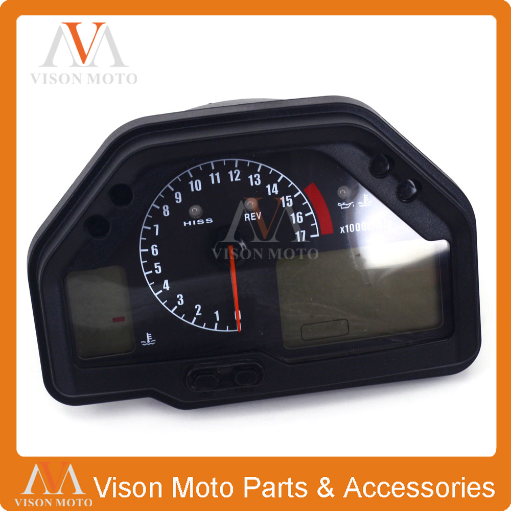 Motorcycle Speedometer Clock Instrument Gauges Odometer Tachometer For HONDA CBR600RR F5 2003 2004 2005 2006 new abs plastic speedometer gauges tachometer instrument cover case for yamaha yzf r1 2002 2003 r6 2003 2004 2005