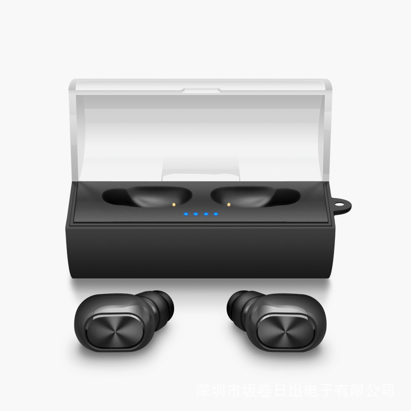 TWS Business Bluetooth Earphones Sport Wireless Stereo In Ear Headphones Headset and Power Bank With Microphone Handsfree Calls fashionable s2 2 in 1 power bank mini wireless bluetooth 4 1 outdoor sport headset earphones stereo waterproof ip67