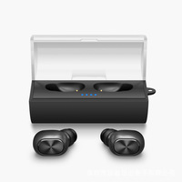 TWS Business Bluetooth Earphones Sport Wireless Stereo In Ear Headphones Headset And Power Bank With Microphone