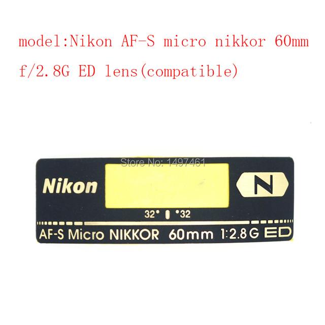 Lente Original Logo/Etiqueta/modelo de Reparación de piezas Para Nikon AF-S micro Nikkor 60mm f/2.8G lente ED