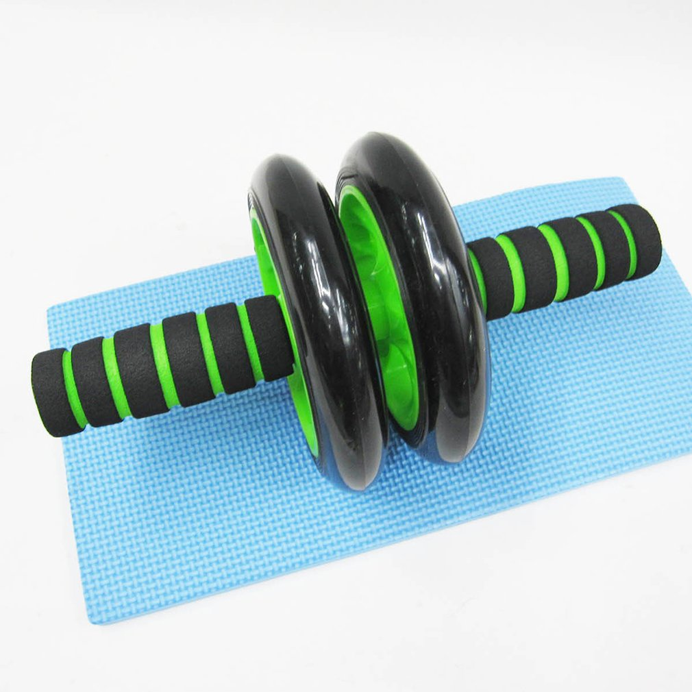 Durable Use Men Women Home Gym Abdominal Multifunctional Exercise Equipment Ab Wheel Double Roller massager Device image