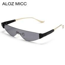 ALOZ MICC Fashion Rimless Cat Eye Sunglasses Women 2019 Brand Designer Sun glasses Female Men Candy Color Goggles Eyewear Q433