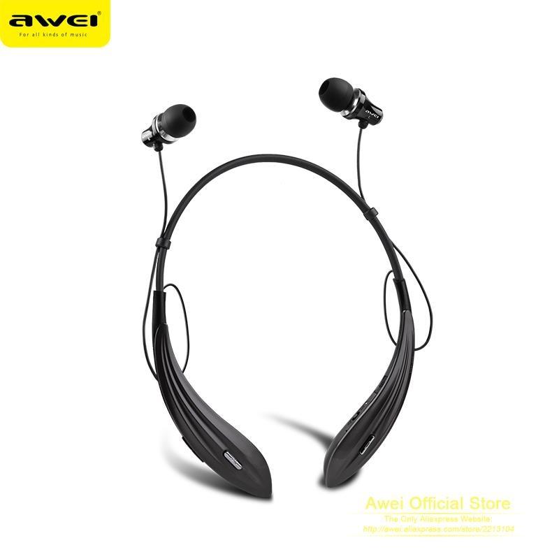 Original AWEI A810BL Wireless Headphones Bluetooth Earphones Auriculares Super Bass Neckband Headset Audifonos Fone de ouvido