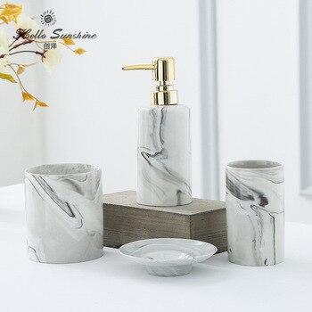 Bad Fünf-stück Anzug Waschraum Zubehör Marmor Badezimmer Zubehör Set ...