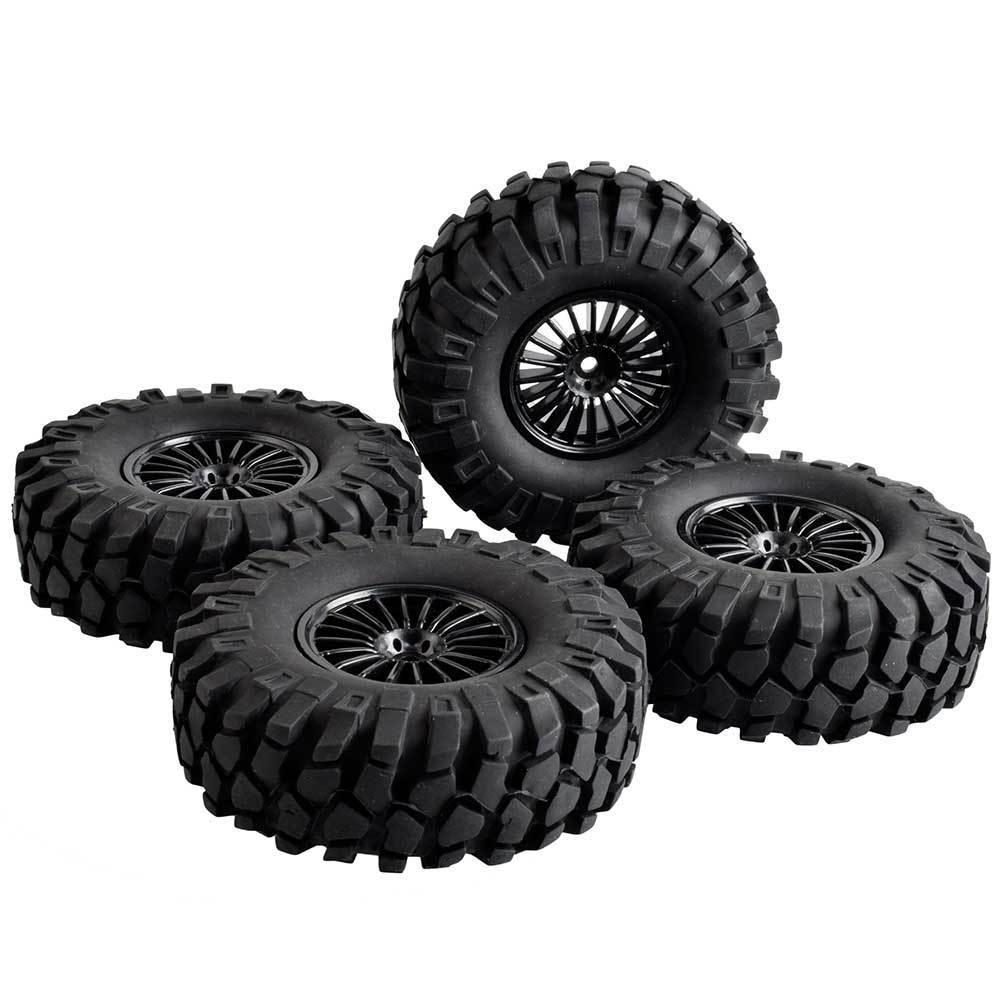 1.9 wheels/tires 4pcs 1/10 RC Rock cralwer Tamiya Hilux Bruiser TF2 SCX10 D90 Cruiser/FJ40 G2 RC88WD Axial HRAXXAS TRX4(China)