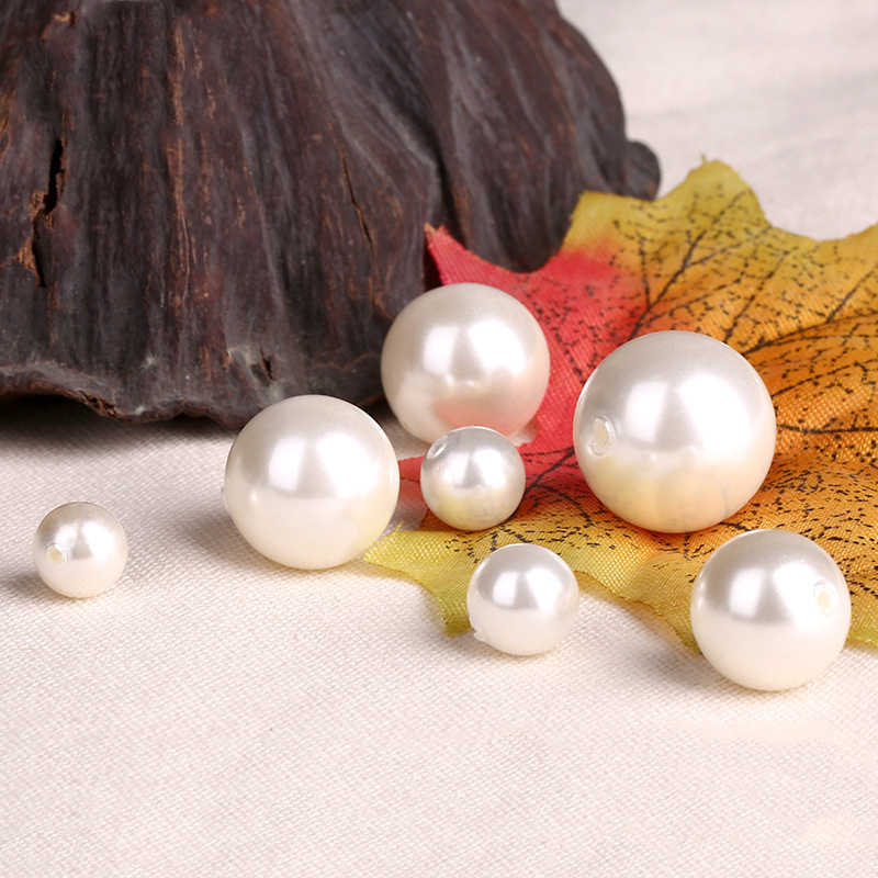 White Half-drilled Shell Pearl Beads Round Beads Jewelry Accessories Beads & Jewelry Making Button Pendant Earrings Necklace