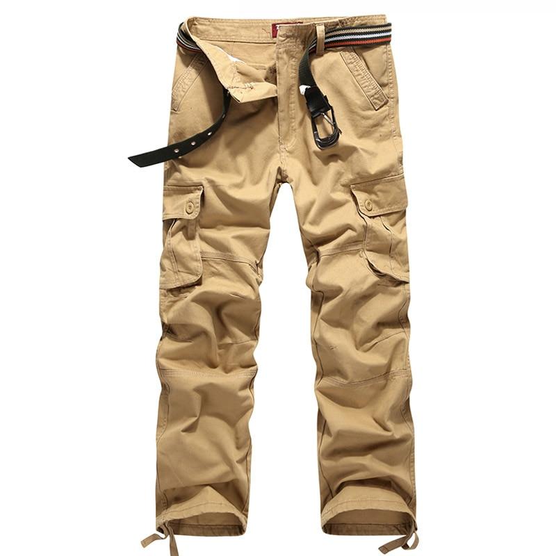 Male Multi-pocket Durable Camo Cotton Cargo Pants Mens Casual Loose Long Trousers Men Baggy Tool Work Pants Swat Pants,Plus Size