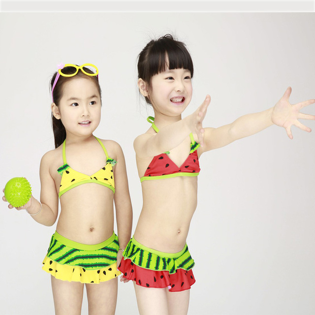 watermelon Swimsuit Girls 2 Pieces  Swimwear Female Split Bikini Baby Children Swimwear Girls Bikini Kids Swimming Suit,Shorts,