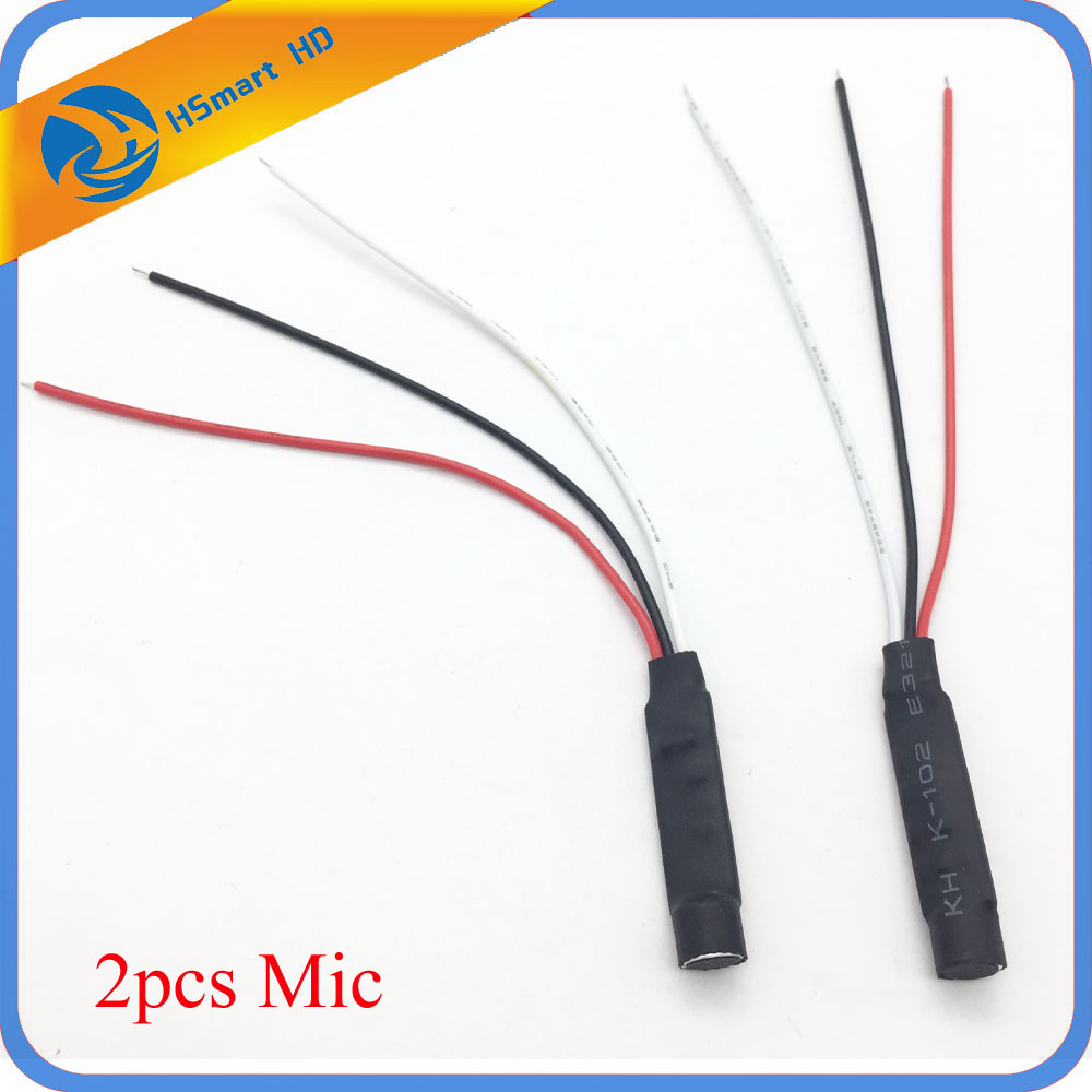MIni CCTV High Sensitive Microphone Security Camera Audio Mic DC Power Cable Wide Range Microphone For CCTV Cameras DVR Systems цены