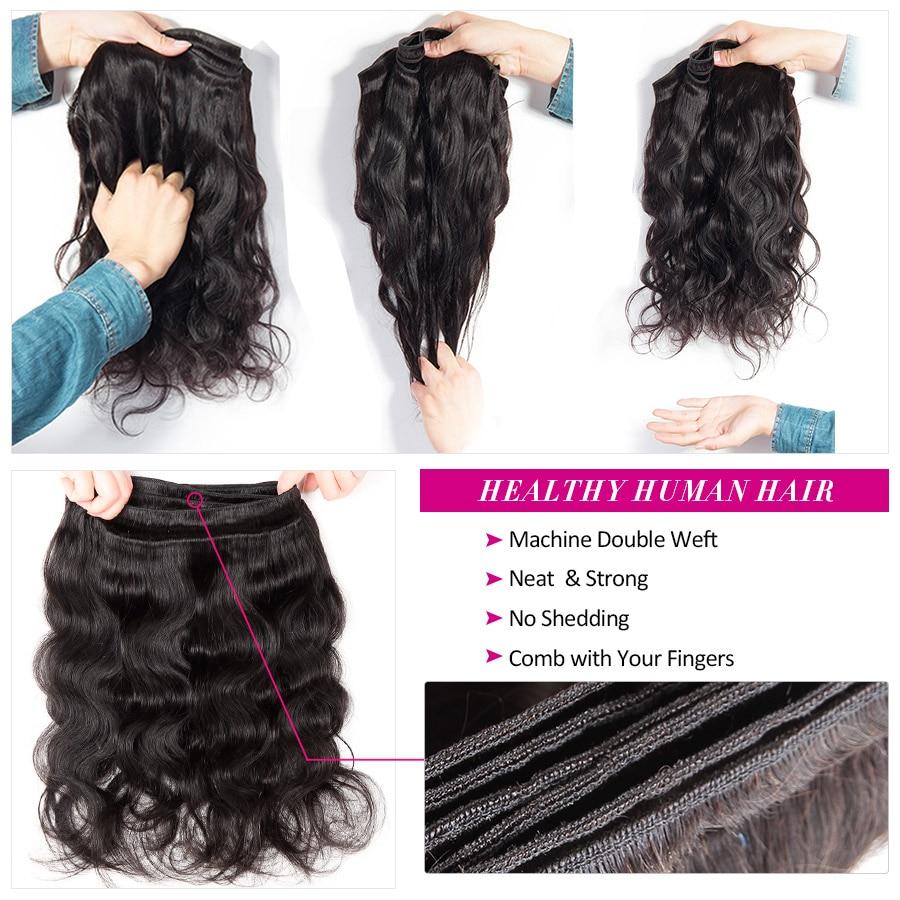 HTB1abwBpeOSBuNjy0Fdq6zDnVXaW Beautiful Princess Body Wave Human Hair Bundles With Closure Double Weft Remy Brazilian Hair Weave 3 Bundles With Closure